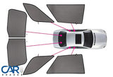 Car Shades - Ford Focus Wagon - 2011 tot 2018 - PV FOFOCEC - overzicht