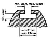 Doorsnee dakdrager met maten tabel