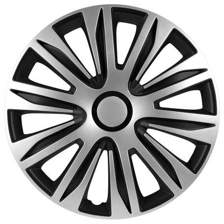 Wieldoppenset Nardo | Zilver/Zwart | 15 inch