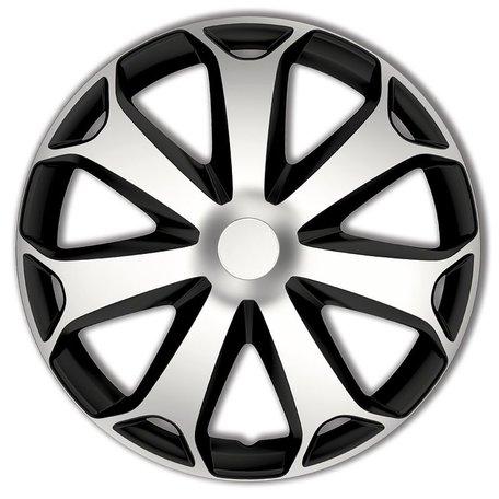 Wieldoppenset Mega | Zilver/Zwart | 14 inch