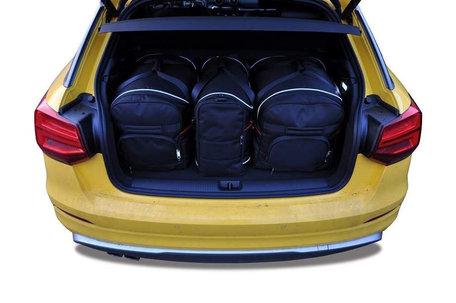 Audi Q2 vanaf 2016   3 auto tassen   Kjust reistassen