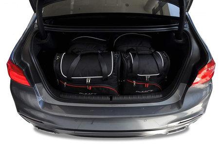 Kjust | BMW 5-serie sedan | vanaf 2017 | 4 auto tassen | Auto reistassen