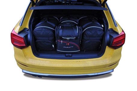 Audi Q2 vanaf 2016   4 auto tassen   Kjust reistassen