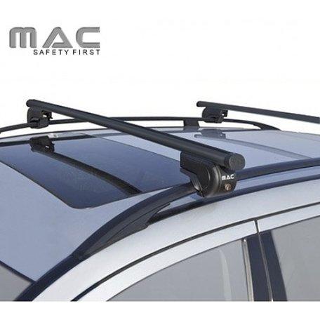 Dakdragers Renault Megane II Grand Tour met dakrailing | MAC S01 staal