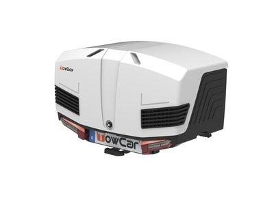 TowBox V3 | Trekhaakbagagebox | Arctic Black - White | 400L