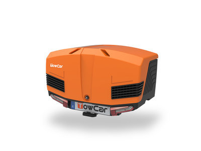 TowBox V3 | Trekhaakbagagebox | Urban Black - Orange | 400L