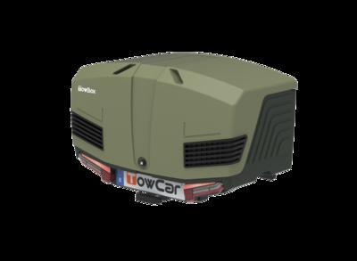 TowBox V3 | Trekhaakbagagebox | Camper Gray - Green | 400L