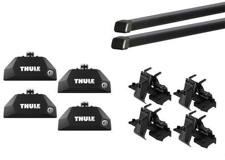 Thule Flush Rail Evo dakdragerset   Voetenset 7106 voor auto's met geïntegreerde rails