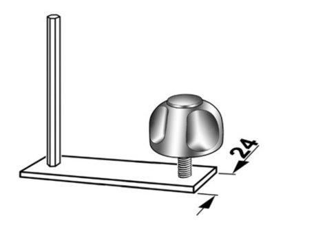 T-Stukken 24mm Snelspanbevestiging 05208710