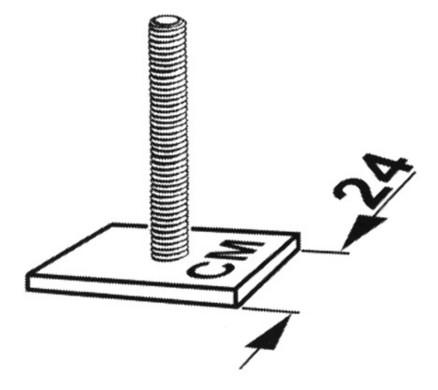Kamei T-stukken 24mm | Dakkoffer bevestigingsset | 05200410