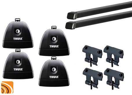 Thule Fixpoint XT dakdragerset met voetenset 751 voor voertuigen met vaste bevestigingspunten