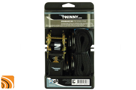 TwinnyLoad Spanband 5 meter | met haak en ratel