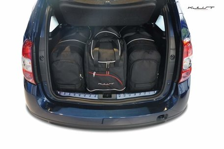Dacia Duster van 2010 tot 2017 | 4 auto tassen | Kjust reistassen