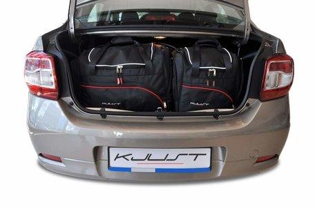 Dacia Logan Sedan vanaf 2012 | 5 auto tassen | Kjust reistassen