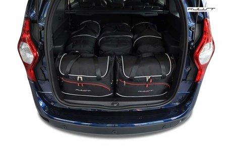 Dacia Lodgy vanaf  2012 | 5 auto tassen | Kjust reistassen