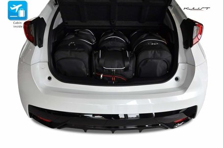 Honda Civic Hatchback van 2012 tot 2017 | 4 autotassen | Kjust reistassen