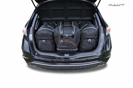 Honda Civic Hatchback van 2006 tot 2011 | 4 autotassen | Kjust reistassen