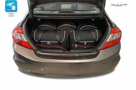Honda Civic Sedan vanaf 2012 | 5 auto tassen | Kjust reistassen