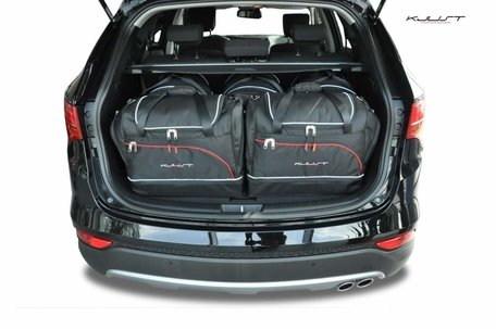 Hyundai Santa Fe vanaf 2012 | 5 auto tassen | Kjust reistassen