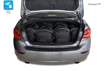 Infiniti Q50 Hybrid van 2013 tot 2017 | 4 autotassen | Kjust reistassen