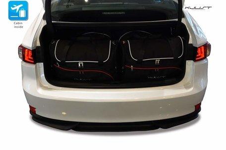 Lexus IS vanaf 2013 | 4 auto tassen | Kjust reistassen
