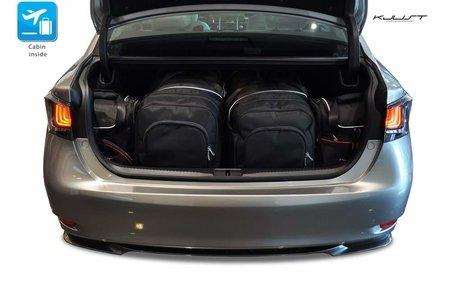Lexus GS Hybrid vanaf 2012 | 4 auto tassen | Kjust reistassen