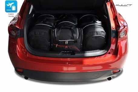 Mazda 3 Hatchback vanaf 2013 | 4 auto tassen | Kjust reistassen