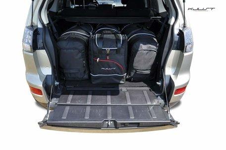 Mitsubishi Outlander van 2006 tot 2012 | 4 auto tassen | Kjust reistassen