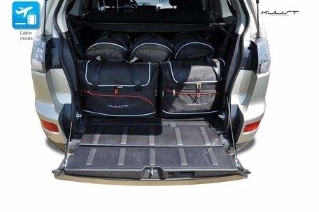 Mitsubishi Outlander van 2006 tot 2012 | 5 auto tassen | Kjust reistassen