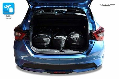 Nissan Micra vanaf 2017 | 3 auto tassen | Kjust reistassen