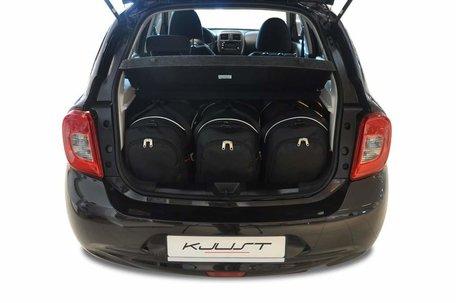 Nissan Micra vanaf 2010 | 3 auto tassen | Kjust reistassen