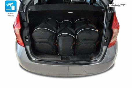 Nissan Note vanaf 2013 | 3 auto tassen | Kjust reistassen