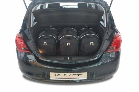 Opel Corsa vanaf 2014   3 auto tassen   Kjust reistassen