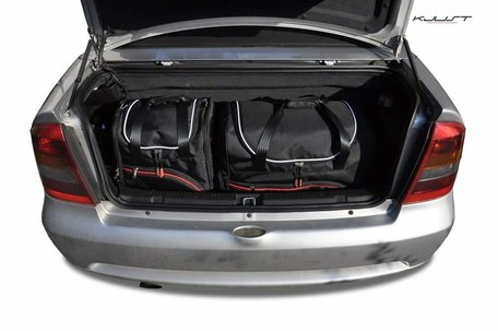 Opel Astra Cabrio van 1998 tot 2009 | 4 autotassen | Kjust reistassen