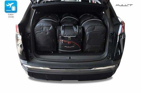 Peugeot 3008 vanaf 2016   4 auto tassen   Kjust reistassen