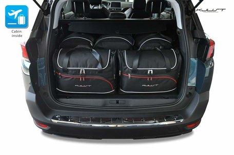 Peugeot 5008 vanaf 2017   5 auto tassen   Kjust reistassen