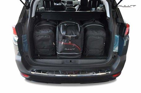 Peugeot 5008 vanaf 2017   4 auto tassen   Kjust reistassen