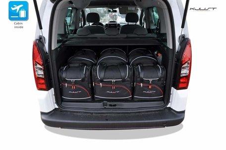 Peugeot Partner vanaf 2008   6 auto tassen   Kjust reistassen