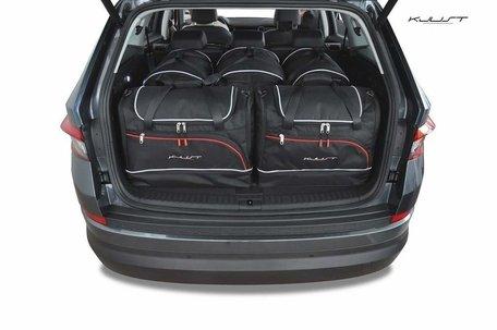 Kjust reistassen   Skoda Kodiaq   vanaf 2017   5 auto tassen   Auto reistassenset
