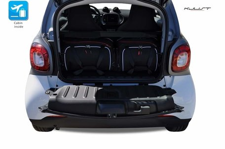Smart Fortwo Coupe vanaf 2014 | 2 autotassen | Kjust reistassen