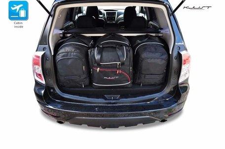 Subaru Forester van 2008 tot 2012 | 4 auto tassen | Kjust reistassen