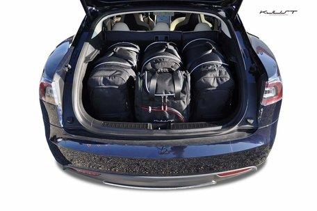 Tesla Model S vanaf 2014 | 4 auto tassen | Kjust reistassen