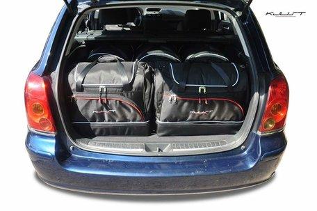 Toyota Avensis Wagon van 2001 tot 2009 | 5 autotassen | Kjust reistassen