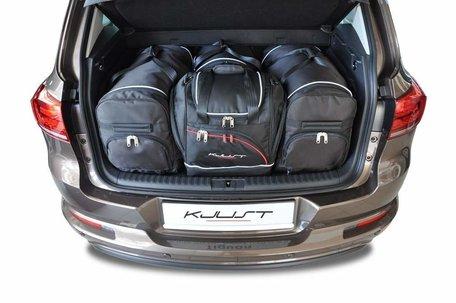 Volkswagen Tiguan van 2007 tot 2015 | 4 auto tassen | Kjust reistassen