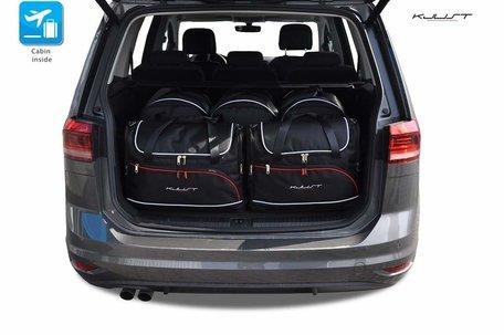 Volkswagen Touran vanaf 2015 | 4 auto tassen | Kjust reistassen
