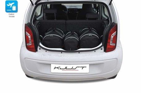 Volkswagen UP vanaf 2011 | 3 auto tassen | Kjust reistassen