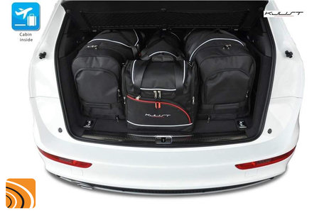 Audi Q3 vanaf 2011   4 autotassen   Kjust reistassen