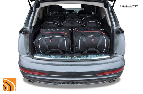 Audi Q7 van 2005 tot 2015   5 auto tassen   Kjust reistassen
