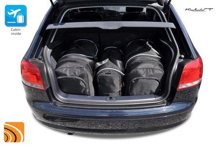 Audi A3 Sportback 2003 tot 2013   3 autotassen   Kjust reistassen