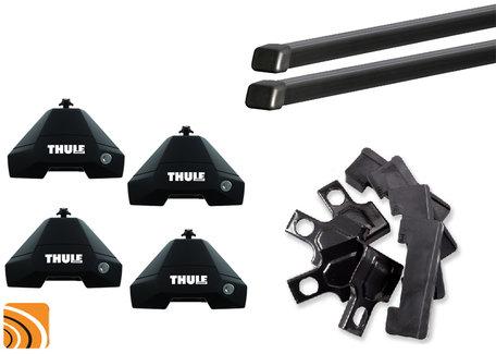 Thule Evo Clamp dakdragerset met Voetenset 7105 voor auto's met normaal dak